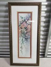 "Limited Edition Framed 35"" x 16"" rectangular Potted Flower Pilar Art by Lena Liu"