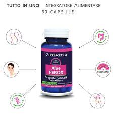 Aloe Ferox dimagrire pulizia colon detox lassativo naturale Herbagetica 60cps