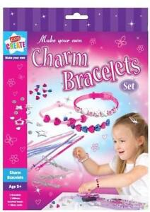 Kids Children's Make Your Own Charm Friendship Bracelets Flowers Hearts Gift UK