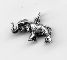 Sterling Silver Necklace Charm Elephant Head turns! 2Gr 12x22mm 8415M