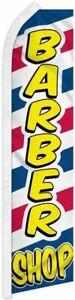 """BARBER SHOP"" advertising super flag swooper banner business hair cut salon ltr"