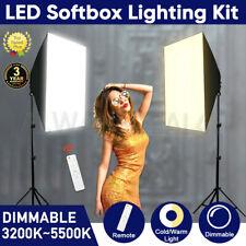 Photography Studio Dimmable LED Softbox Lighting Photo Soft Box Light Stand Kit