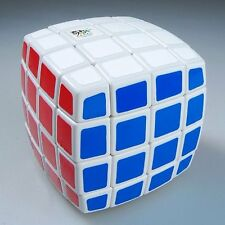 QJ Pillowed 4x4 4x4x4 Speed Cube Puzzle Game Brain Teaser Twist Kids Toy White