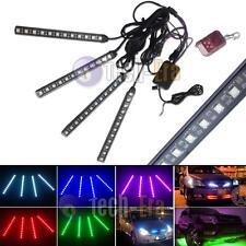 "4PC RGB 7"" Multi 7-Color LED Knight Night Rider Scanner Lighting Bar w/Remote"
