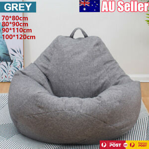 Large Bean Bag Chairs Couch Sofa Cover Indoor Lazy Lounger For Adults Kids AU