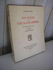 BERTHOLD MAHN / Souvenirs du Vieux-Colombier 55 dessins + texte Jules Romains