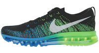 NIKE FLYKNIT MAX PHOTO BLUE/ELECTRIC GREEN Gr.40,5 US 7,5 air 620469-002 ld-zero