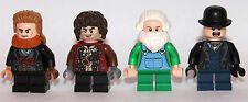 LEGO hobbit Lord of The Ring - 4 SHIRE villagers CITIZENS hobbit - custom LEGO
