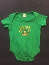 """Jamaica Me Crazy"" green infant romper 18 months"