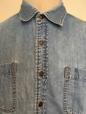 LEVI'S FADED DENIM SHIRTS  ~ Riveted Buttons ~ Nicely Worn ~ Large ~Indie