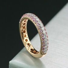 Tourmaline-Brilliant-Ring Pavé Pink-White 750-rotgold New (40606)