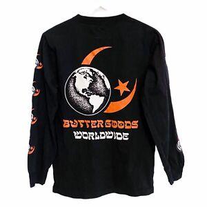 Butter Goods Crescent Moon Star Long Sleeve T-Shirt Mens Small