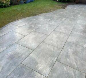 Earthcore Grey Porcelain Patio Paving Slabs Tiles***CLEARANCE***