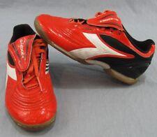 Diadora Kobra Indoor Turf Soccer Shoes Size 5 Orange Athletic Gym Football