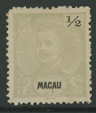 MACAO, MINT, #75a, OG HR, PERF. 12.5, GREAT CENTERING