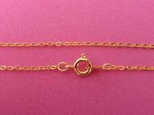 """1 X Cable de latón de 18"""" cadena collar de oro fino de enlace cadenas hallazgos (FFC5112)"""