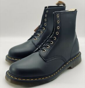 NEW Dr. Doc Martens Vegan 1460 8-Eye Combat Boots Black 14045001 Men's Size 14