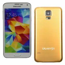 Fundas y carcasas metálicas de color principal oro para teléfonos móviles y PDAs Samsung