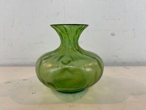 Vintage Possibly Antique Loetz Creta Rusticana Green Decorative Art Glass Vase