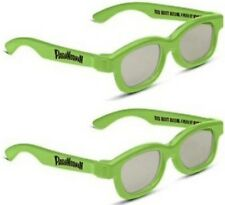 PARANORMAN REAL D  3D  GLASSES ADULT  SIZE  3  PAIRS  , FOR PASSIVE TV