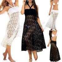 Womens Crochet Swimwear Beachwear Bikini Beach Wear Cover Up Summer Skirt Dress