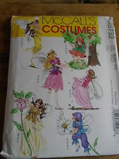 """PATRON  """"McCALL'S COSTUMES FEES ROBE/AILES/CHAPEAU/GILET ETC T 3 A 8 N°5732"""