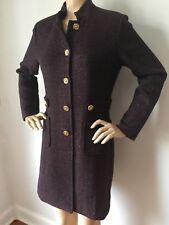 NWT St John Knit Long Jacket topper sz 14 long tweed Hematite Melange wool