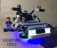 USB LED LIGHT KIT FOR LEGO BACK TO THE FUTURE DELOREAN 21103 BTTF DMC *MAN CAVE*