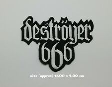 Destroyer 666 Patch Sew Iron On Embroidered Black Death Thrash Metal Rock Band