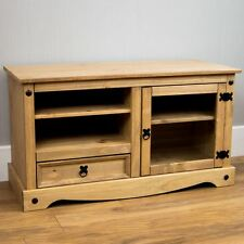 Corona Entertainment Unit TV Video Stand Mexican Solid Pine Wood Waxed Rustic