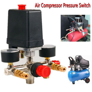Air Compressor Pressure Control Switch Valve & Gauges 16A 230V Replacement Parts
