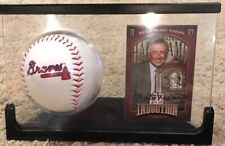 Philip Henry Niekro Autographed Induction Card With Braves Baseball