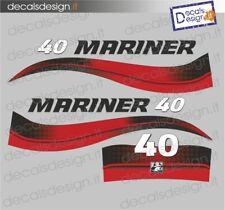 Adesivi motore marino fuoribordo Mariner 40 cv 2t gommone barca decals