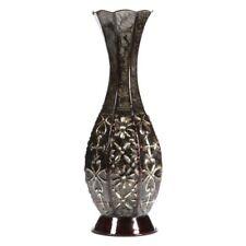 Metal Tall Floor Vase Decorative Large Big Flower Square Embossed Metal Home New