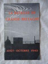 BROCHURE GB 2ème GM : BATAILLE D'ANGLETERRE / RAF / VOIR TRACTS EN VENTE