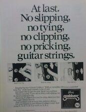 retro magazine advert 1984 GIBSON GRABBERS STRINGS