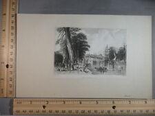 Rare Antique Original VTG 1820 Rotterdam, Netherlands Engraving Art Print