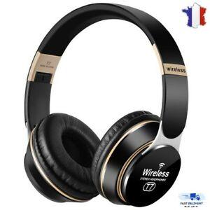 Casque Audio Bluetooth Sans Fil Stéréo Écouteur Ios Android Pc Microphone Mp3