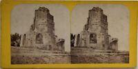 Torre Magne- Nîmes Francia Foto Stereo Vintage Albumina c1865