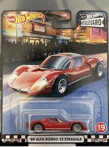 Hot Wheels '69 Alfa Romeo 33 Stradale Boulevard Premium New 2020 Die-cast