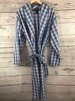 Polo Ralph Lauren Mens Blue Plaid Sleepwear Robe Size S/M Small Medium NWT