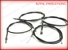 Royal Enfield Bullet New Cable Kit Brake, Clutch, Decompressor & Throttle Cables