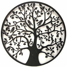 Black Tree Of Life Wall Art Hanging Metal Iron Sculpture Garden BIG 60cm