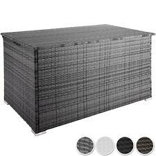950L Polyrattan Auflagenbox Alu Aufbewahrungsbox Kissenbox Gartenbox Gartentruhe