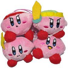 "Kirby Link Fighter Wand Regular Kirby 3.5"" Plush Set of 4"