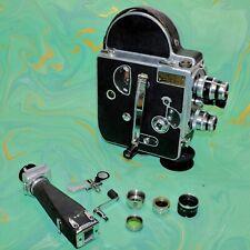 PAILLARD BOLEX H16 F25 SWISS MOVIE CAMERA EXC CONDITION with X3 Lenses & Case