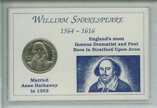 More details for the life of william shakespeare 1564-1616 commemorative coin display gift set