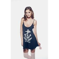 WILDFOX COUTURE STARBOARD ANCHOR NAVY VEST TEE TOP S 10 6 38!