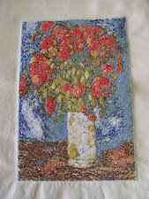 2 Van Gogh Embroidery Prints-Poppies and Roses-SilkNoil
