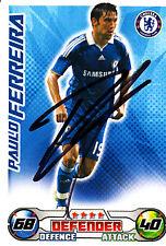 Chelsea F.c Paulo Ferreira mano firmado 08//09 Campeonato Match Attax.